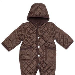 New Leveret Quilted Baby Snowsuit Brown 9 Months